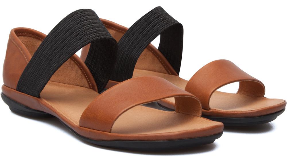 Camper Right Brown Sandals Women 21735-042