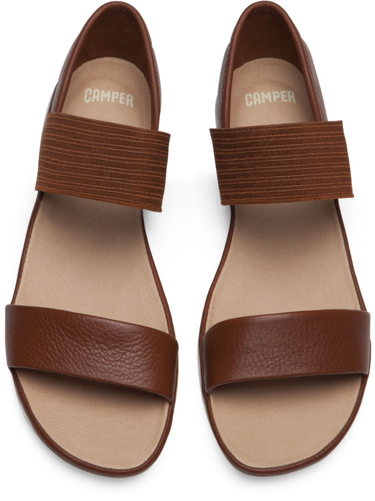 Camper Right Brown Sandals Women 21735-049