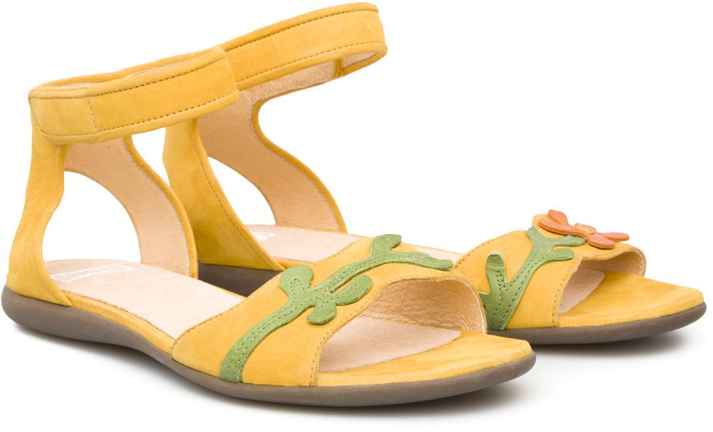 Camper Twins Yellow Sandals Women 21779-001