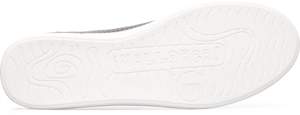Camper Uno Grey Flat Shoes Women 21815-051