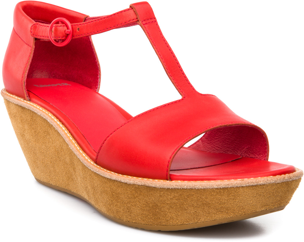 Camper Shoes With Red Platform