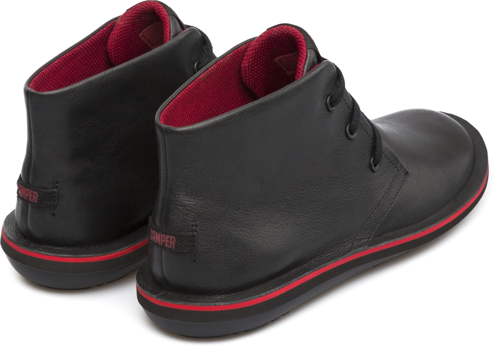 Camper Beetle Black Ankle Boots Men 36530-008