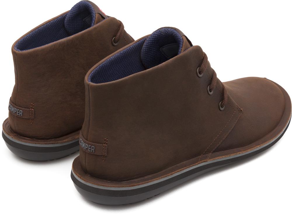Camper Beetle Brown Ankle Boots Men 36530-057