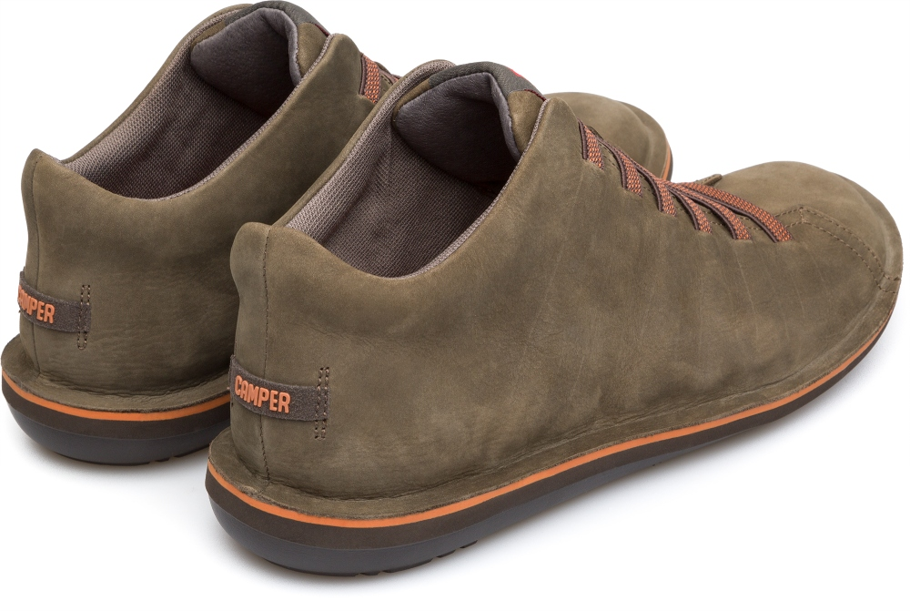 Camper Beetle Verde Zapatos Casual Hombre 36678-055