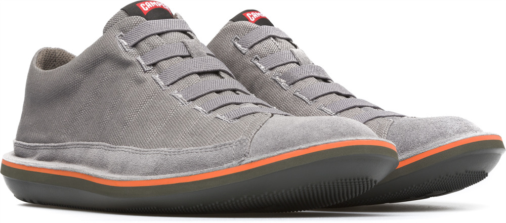Camper Beetle Grey Ankle Boots Men 36791-031