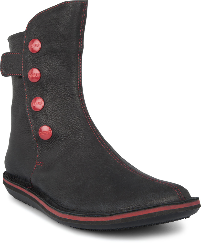 Camper Beetle Black Ankle boots Women 46397-002