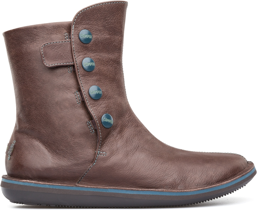 Camper Beetle Brown Ankle boots Women 46397-010