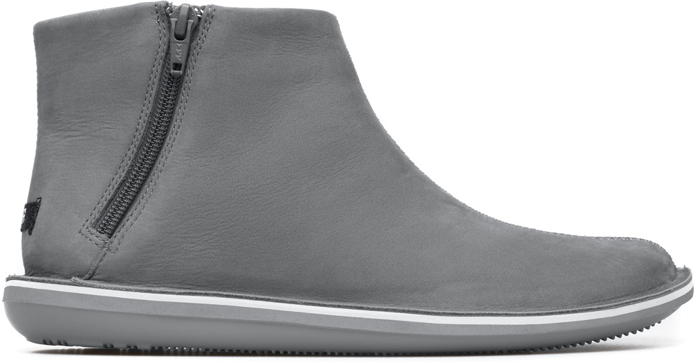 Camper Beetle Grey Ankle Boots Women 46613-035