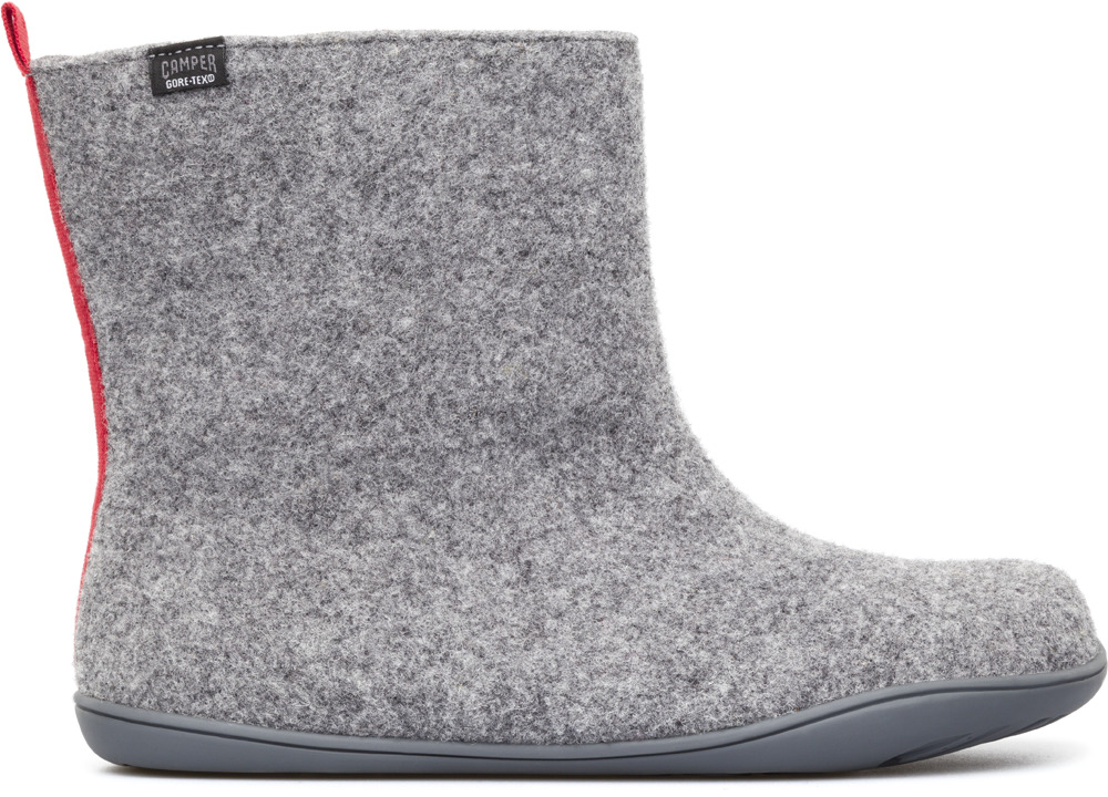 Camper WABI Grey Ankle Boots Women 46646-001
