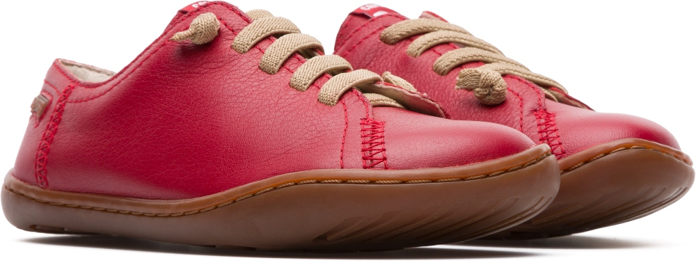 Camper Peu Red Lace-Up Kids 80003-054