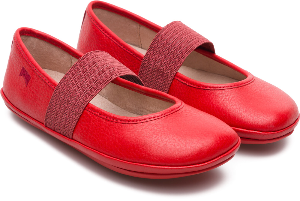Camper Right Red Ballerinas Kids 80025-101