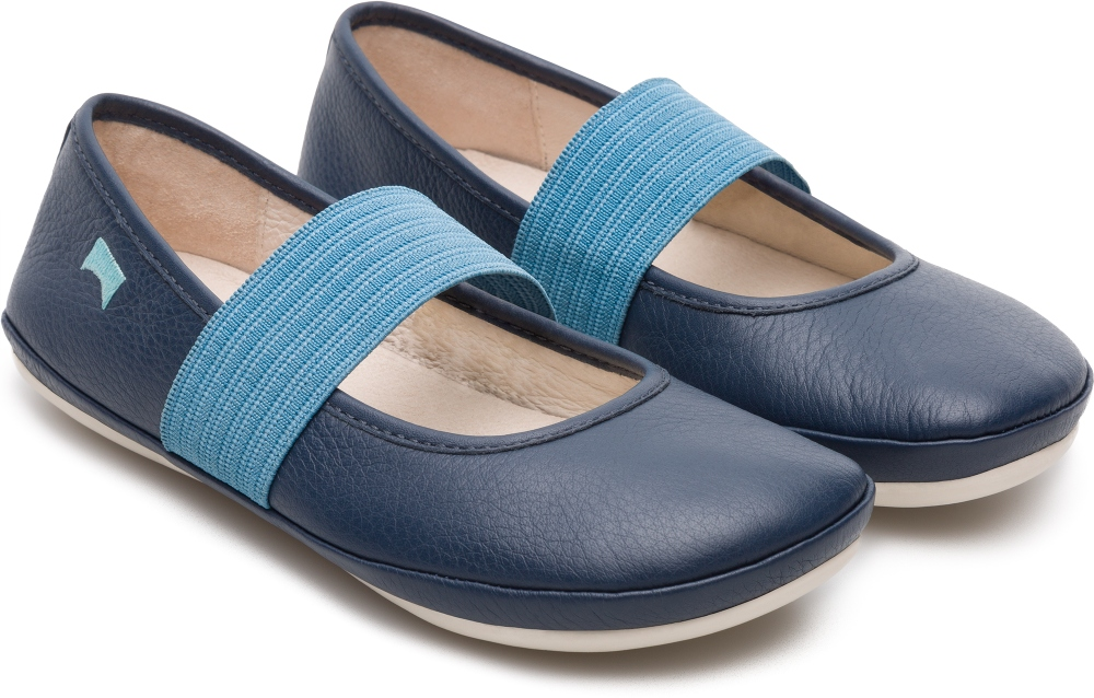 Camper Right Blue Ballerinas Kids 80025-103