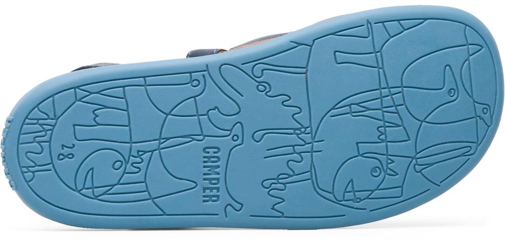 Camper Bicho Blau Velcro Kinder 80177-045