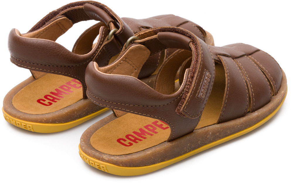 Camper Bicho Brown Velcro Kids 80177-047