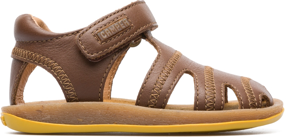 Camper Bicho Brown Velcro Kids 80372-047