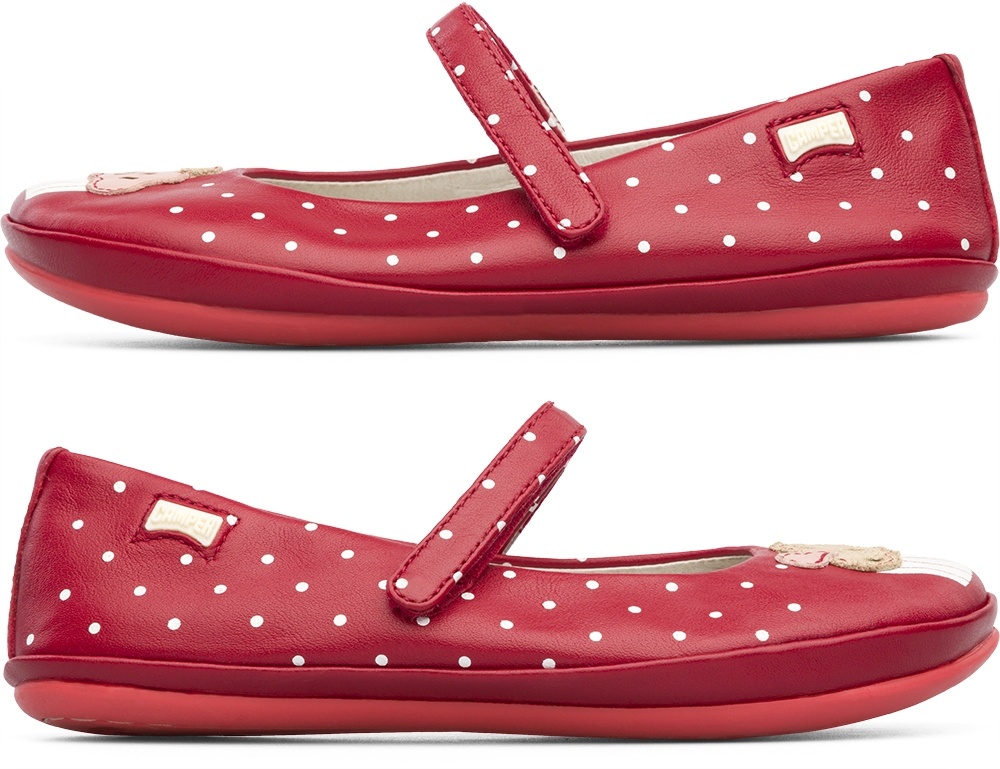 Camper Twins Red SMART CASUAL SHOES Kids 80380-001