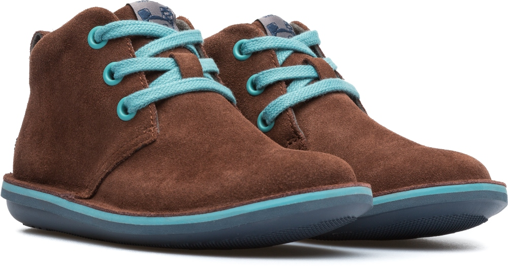 Camper Beetle  Brown Ankle Boots Kids 90203-049