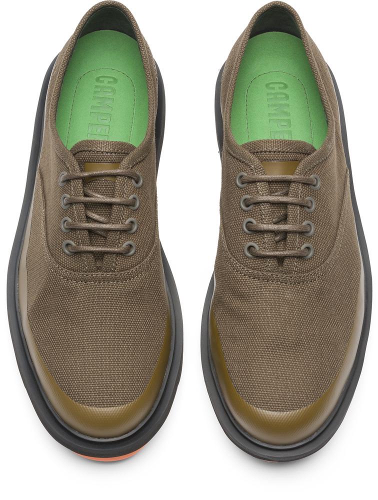 Camper Mateo Green Formal Shoes Men K100184-001