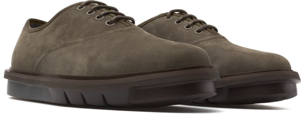 Camper Mateo Green Formal Shoes Men K100236-001