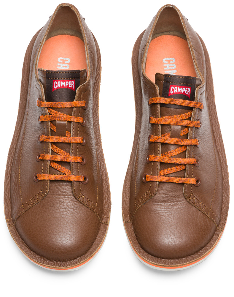 Camper Beetle Brown Casual Shoes Men K100307-004