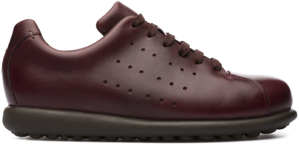 Camper Pelotas Burgundy Flat Shoes Women K200038-024