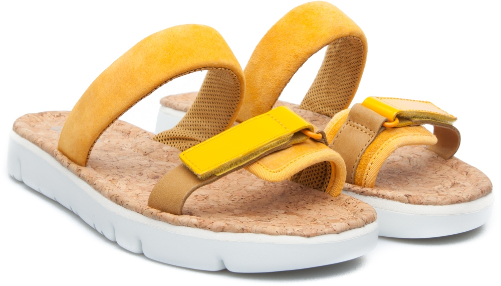 Camper Oruga Yellow Sandals Women K200124-003