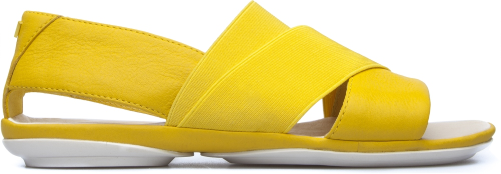 Camper Right Yellow Sandals Women K200142-007