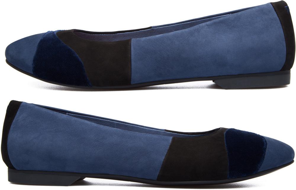 Camper Twins Blue Flats Women K200153-002