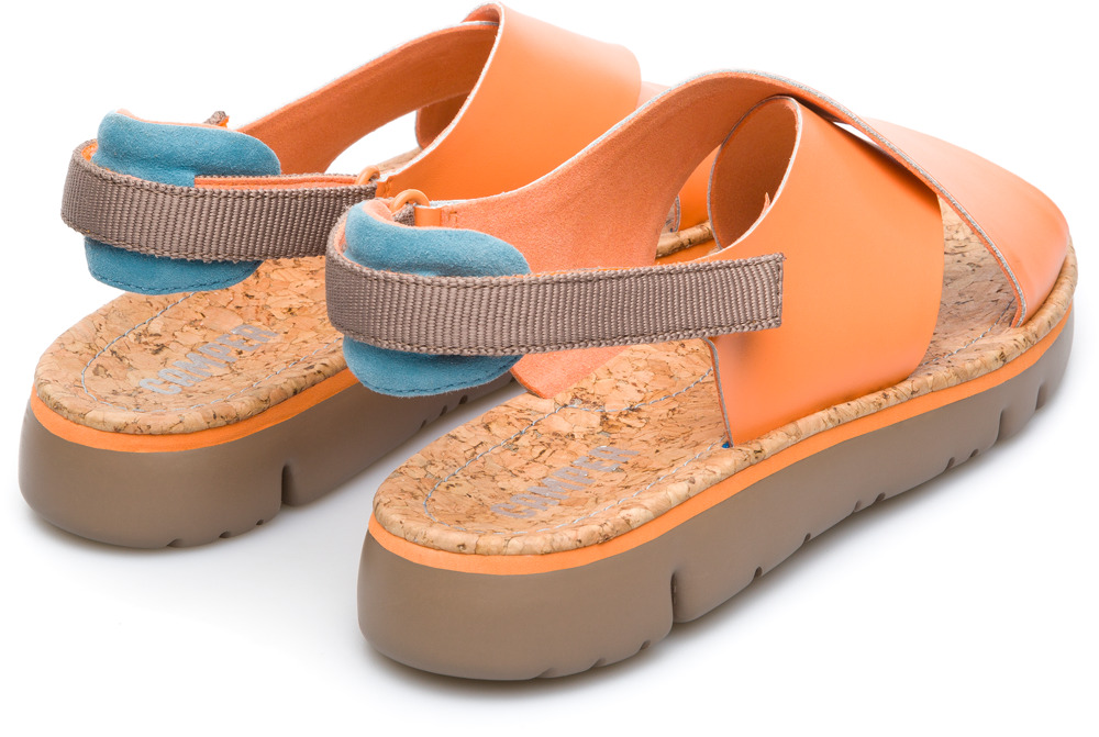 Camper Oruga Orange Flat Shoes Women K200157-010