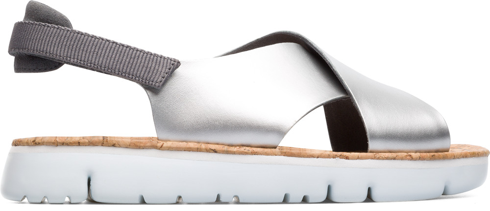 Camper Oruga Grey Flat Shoes Women K200157-011