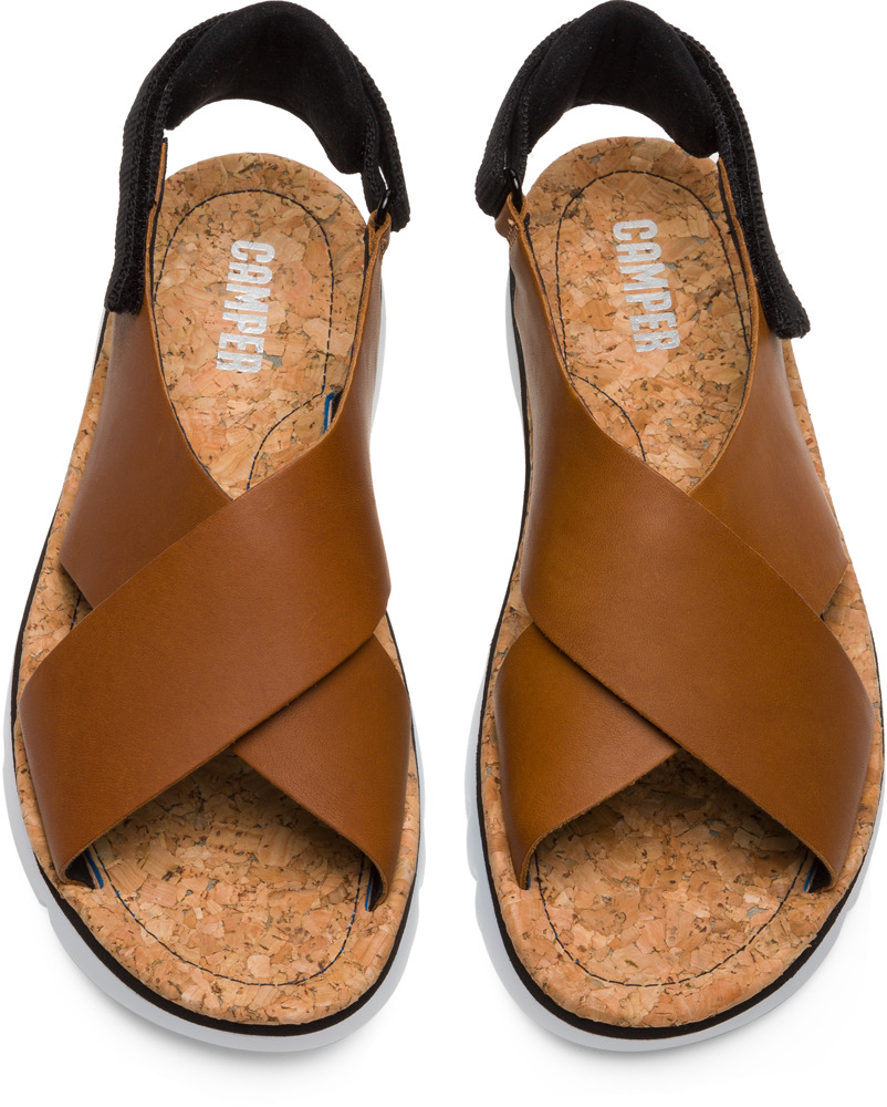 Camper Oruga Brown Flat Shoes Women K200157-012