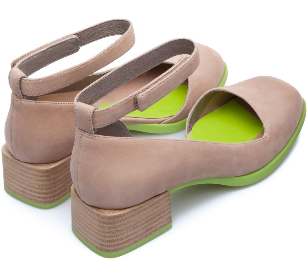 Camper Twins Beige Zapatos de tacón Mujer K200219-002