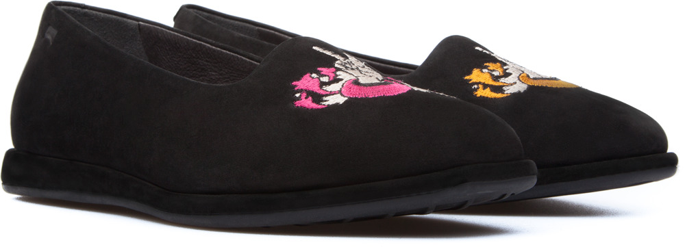 Camper Twins Black Flats Women K200223-001
