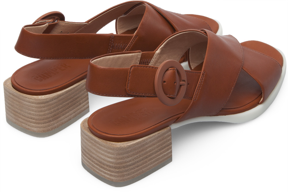 Camper Kobo Brown Sandals Women K200327-003