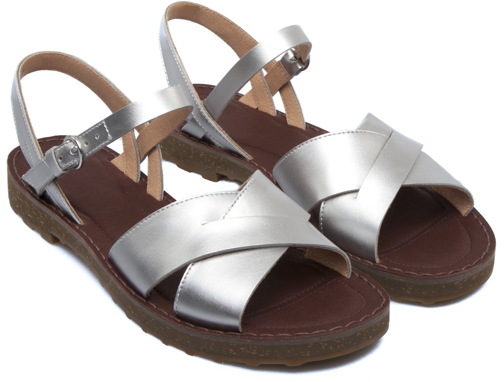 Camper PimPom Grey Sandals Women K200378-002