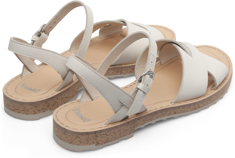 Camper PimPom White Sandals Women K200378-004