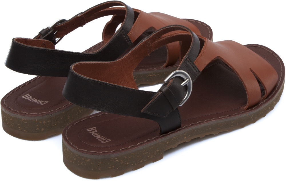Camper PimPom Brown Sandals Women K200379-002