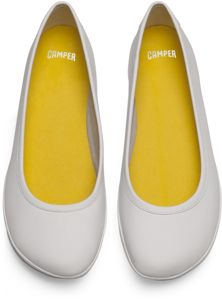 Camper Right White Ballerinas Women K200387-002