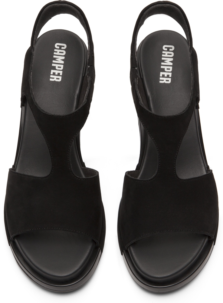 Camper Ivy Black Sandals Women K200419-001