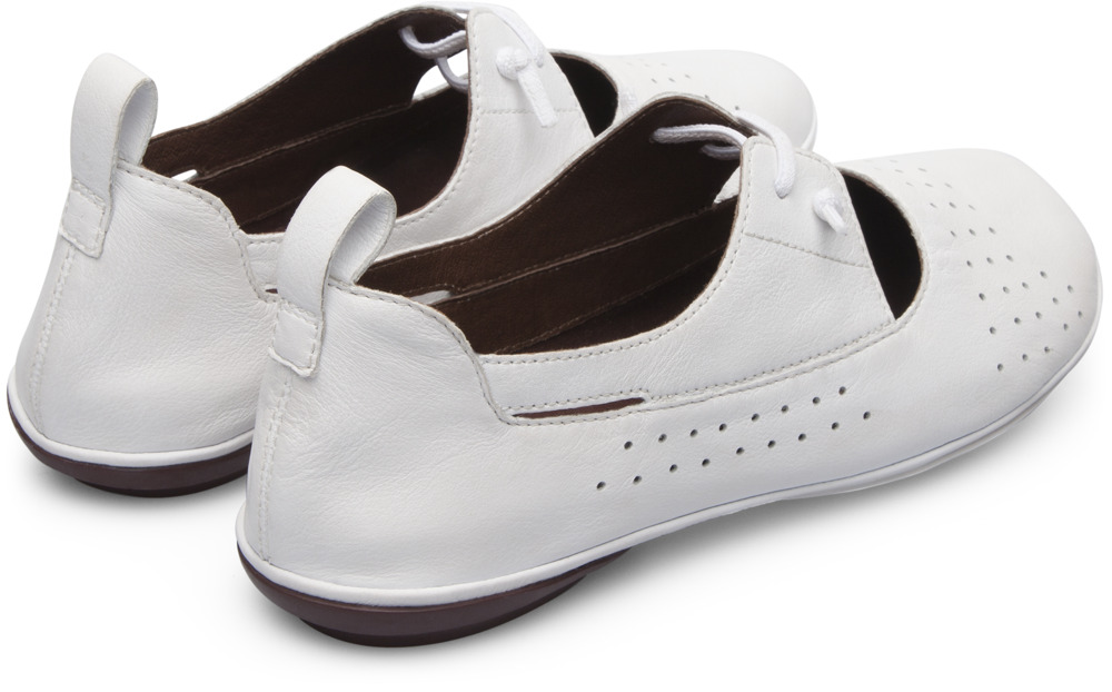 Camper Right White Flat Shoes Women K200441-002