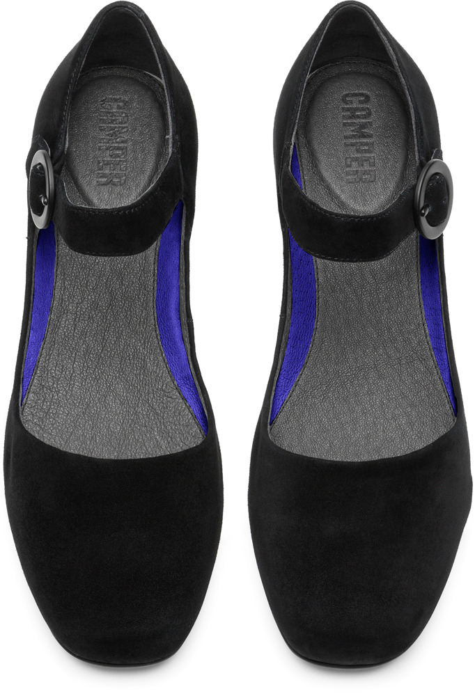 Camper Serena Black Flat Shoes Women K200491-001