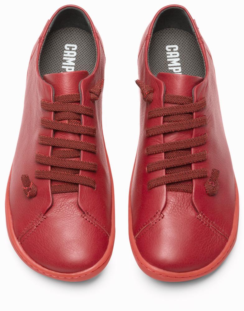 Camper Peu Red Flat Shoes Women K200514-004