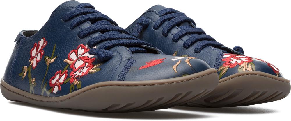7d7fb8a0dfb Camper Twins Bleu Chaussures plates Femme K200517-001