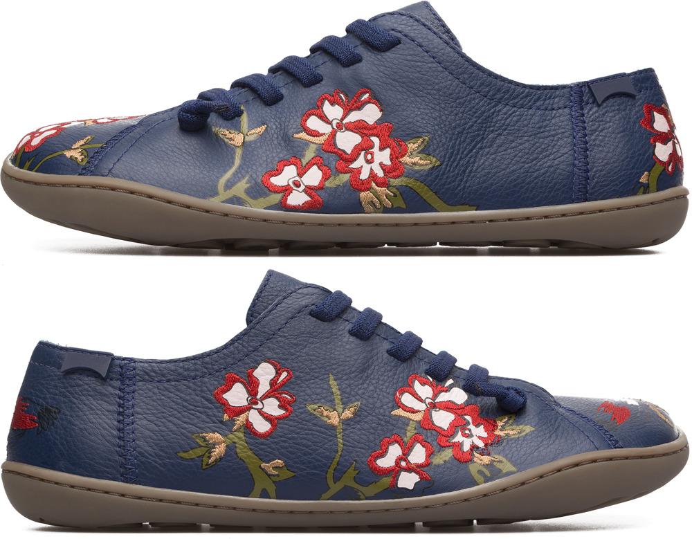 Camper Twins Blue Flat Shoes Women K200517-001