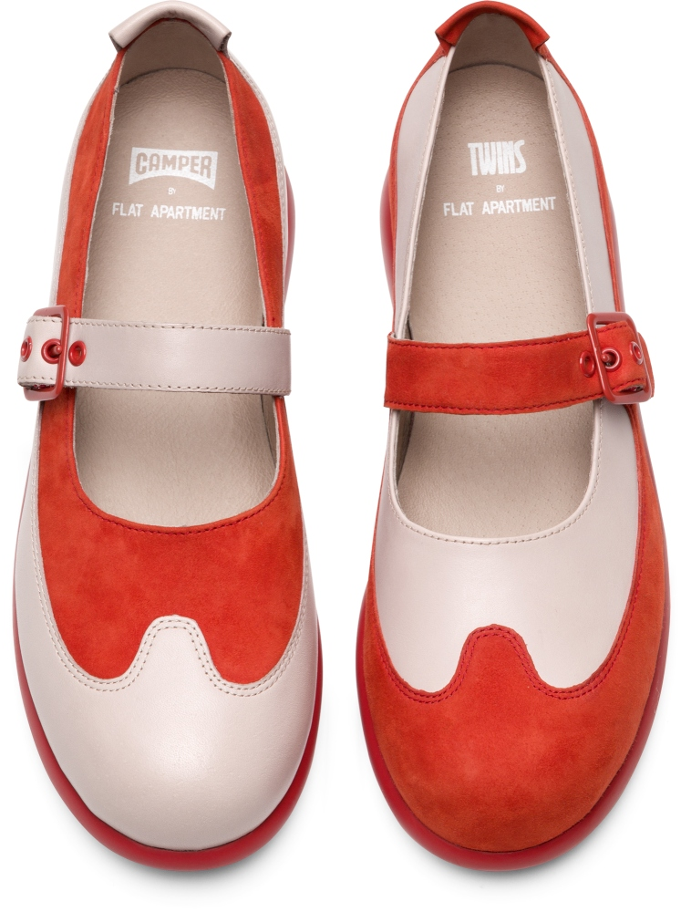 Camper Twins by Flat Apartment Multicolor Flat Shoes Women K200523-002