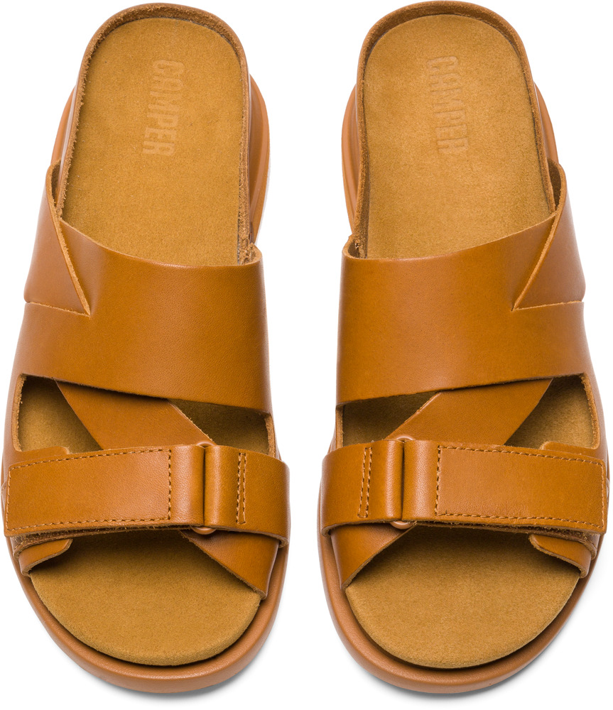Camper Eda Brown Flat Shoes Women K200570-004