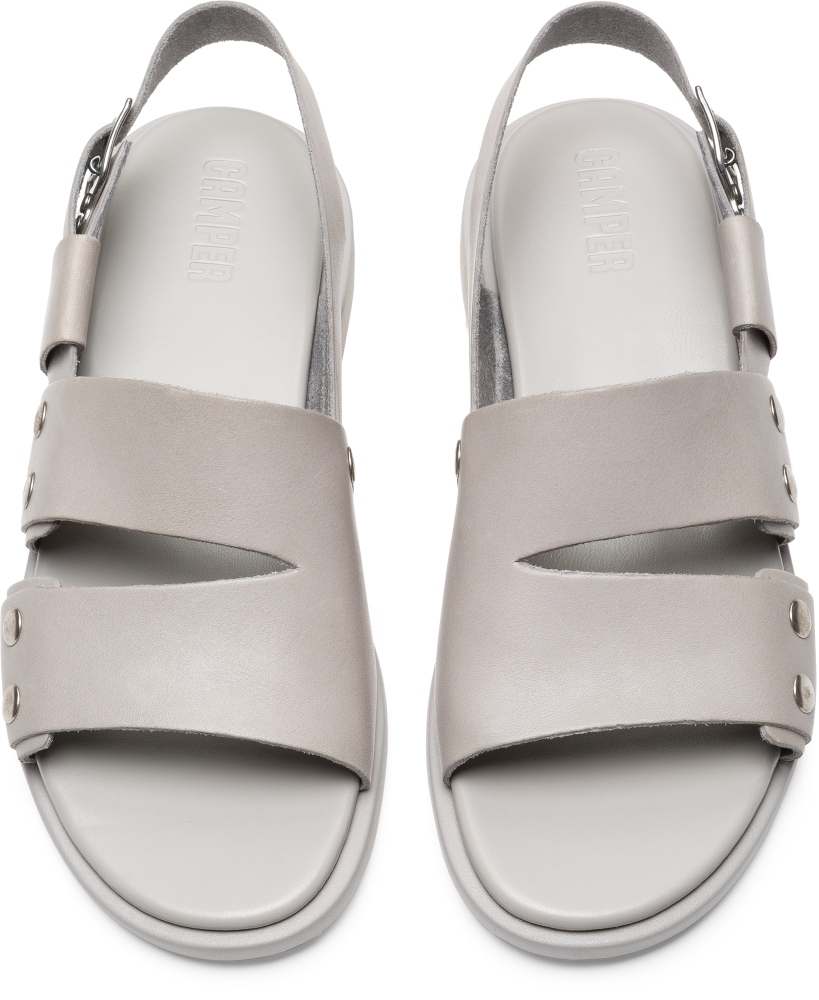 Camper Edy Grey Flat Shoes Women K200574-001
