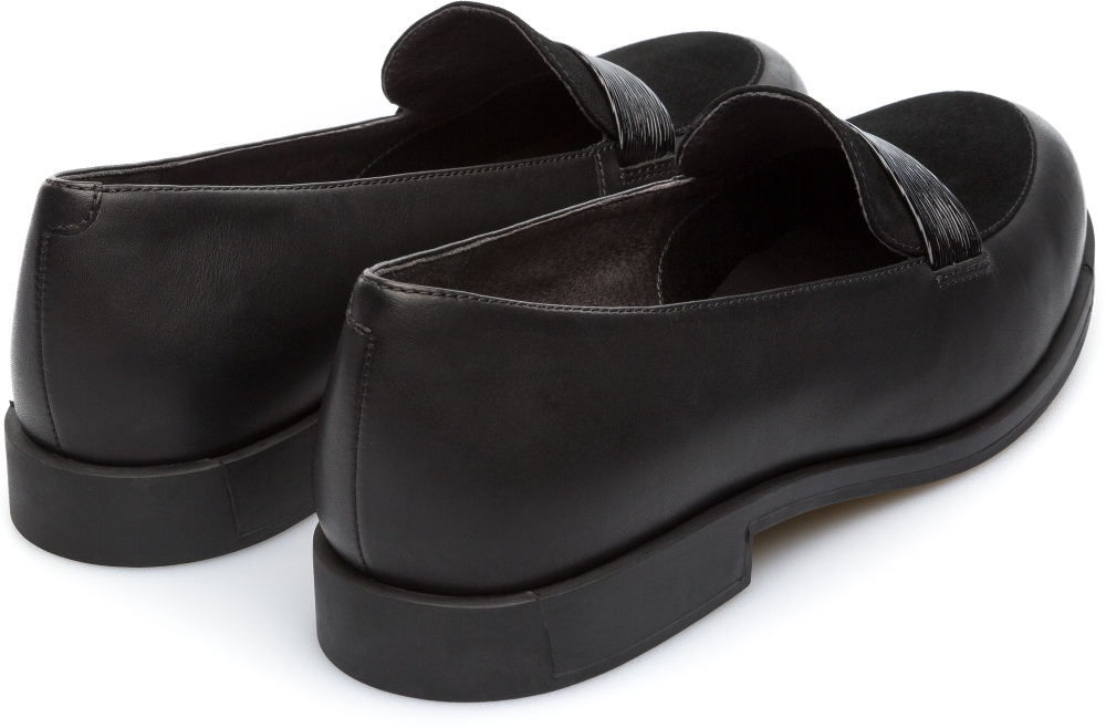 Camper Bowie Black Flat Shoes Women K200602-003