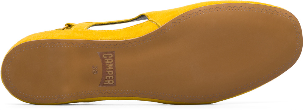 Camper Serena Yellow Flat Shoes Women K200617-002