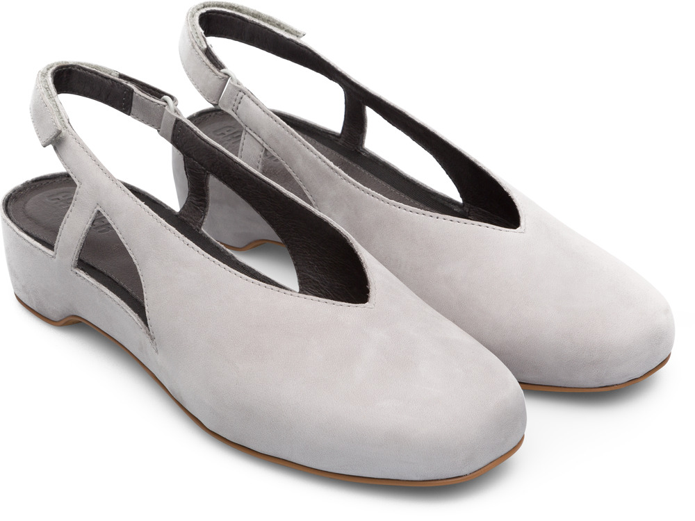 Camper Serena Grey Flat Shoes Women K200617-004